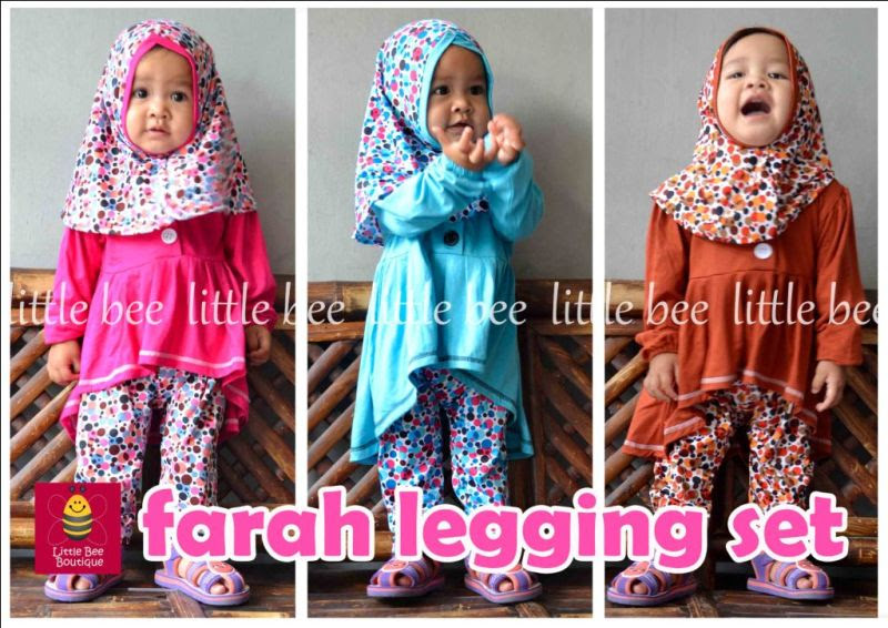 baju muslim anak perempuan oren