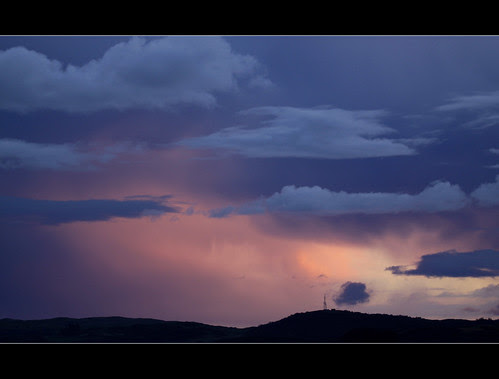 Clearing storm over Dalbeattie by Mike Bolam