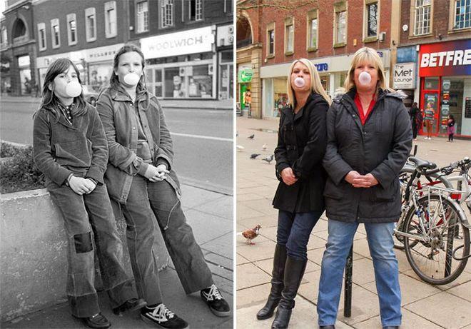 perierga.gr - Επέστρεψε στη γειτονιά του μετά από 40 χρόνια και φωτογράφισε τους ίδιους ανθρώπους!