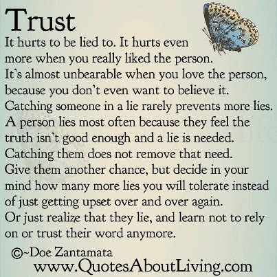 Trust It Hurts To Be Lied Toit Hurts Even More When You Really