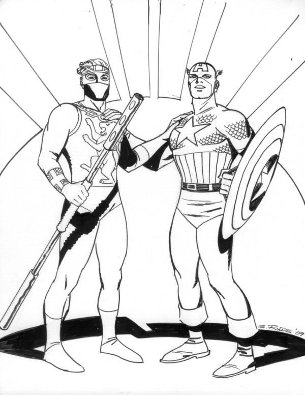 Dibujos Capitan America Colorear Imagui