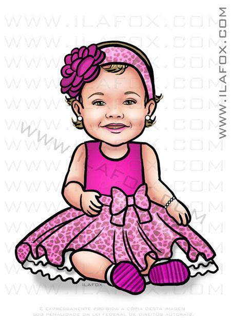 caricatura infantil, caricatura bebê, caricatura menina, caricatura bonita, by ila fox