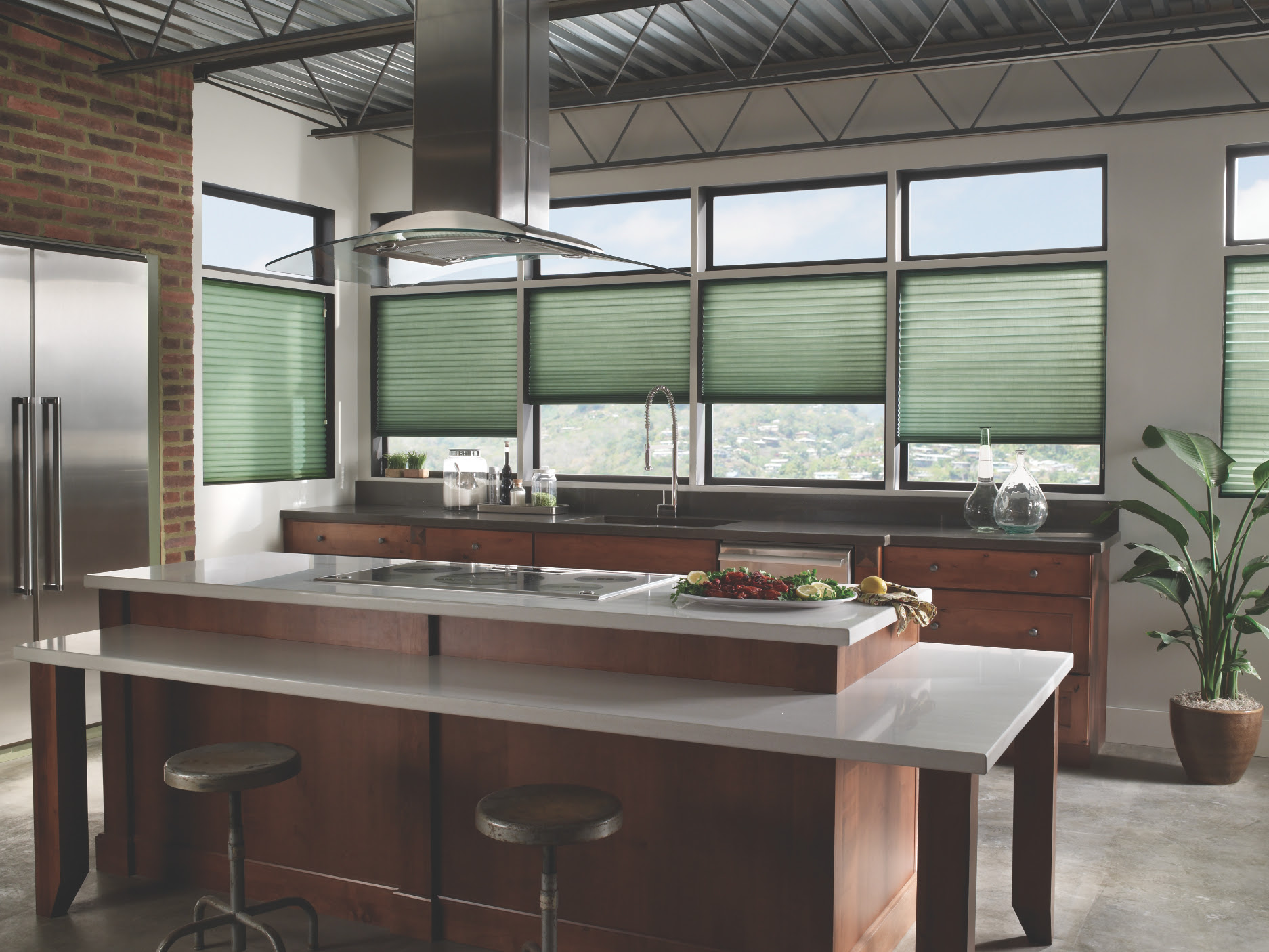cellular window shades for your modern kitchen design o