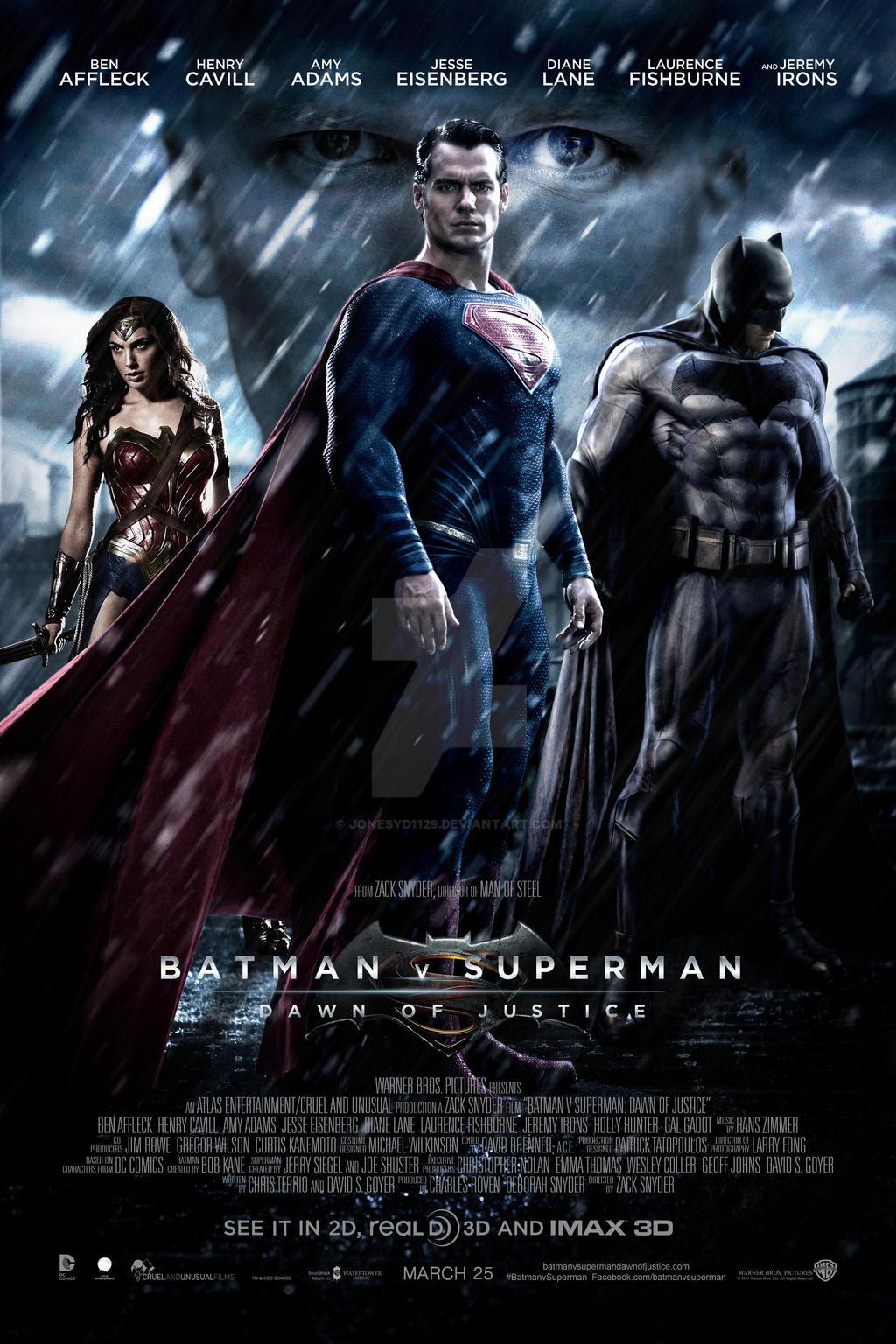 póster de la película Batman vs Superman