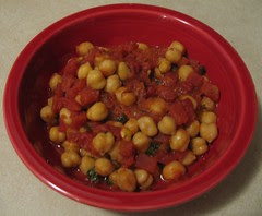 Yummy Chickpeas and Tomatoes