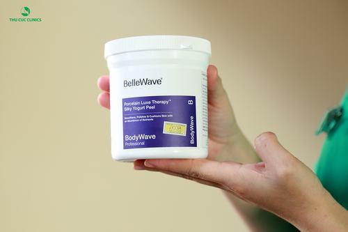 Sản phẩm Bellewave cao cấp được sử dụng trong liệu pháp tắm trắng phi thuyền.