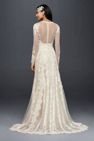 Melissa Sweet Linear Lace Wedding Dress Style MS251173