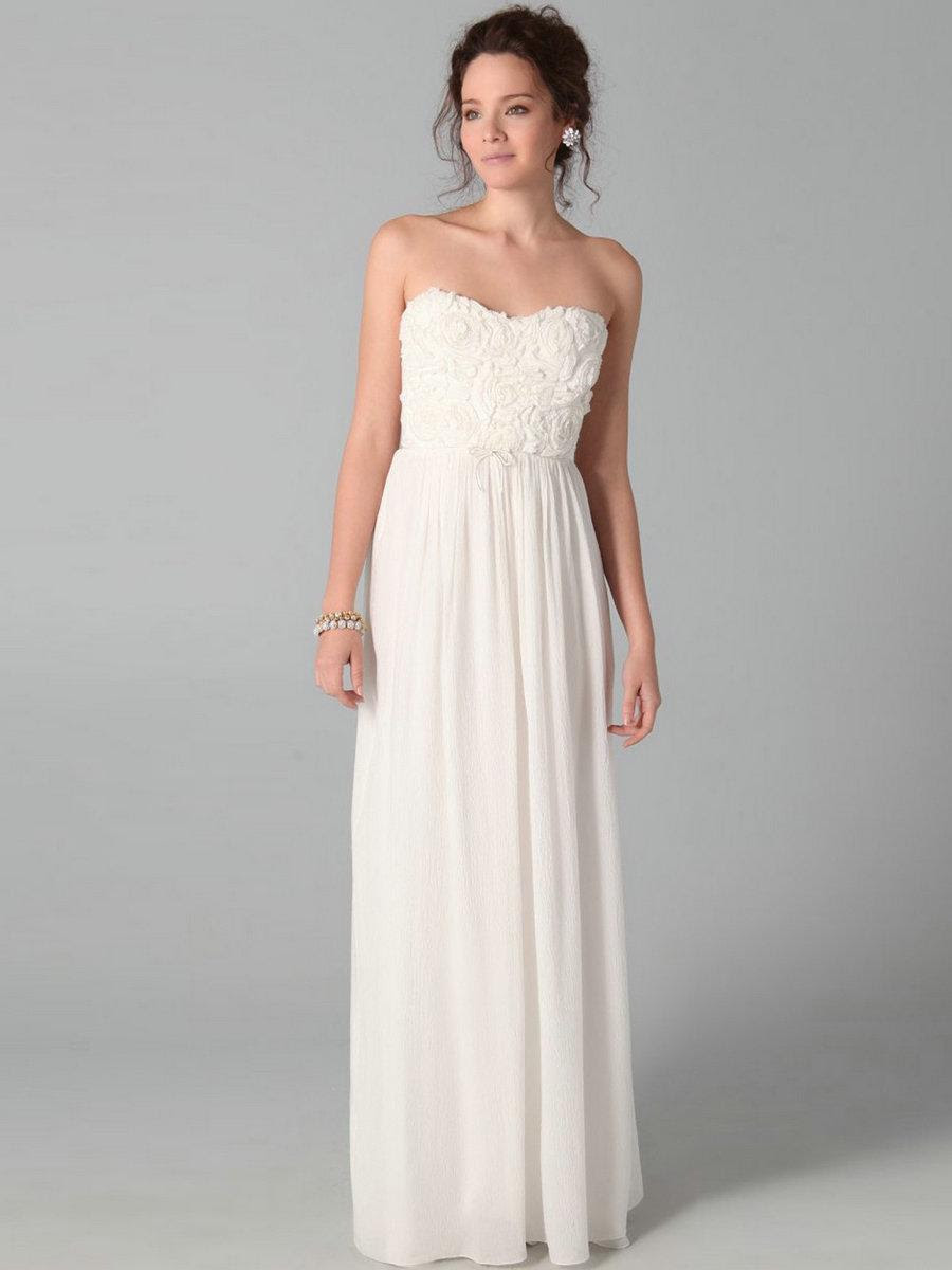 White cheap evening dresses