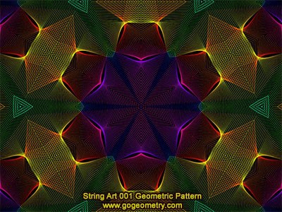 String Art 01: Bézier curves, Geometric Pattern, Symmetry, Software.