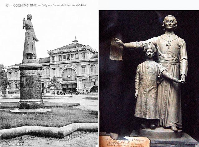 Tượng Giám mục Bá Đa Lộc và Hoàng tử Cảnh