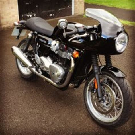 Just Fitted   Black Thruxton 1200 With Café Racer Fairing   Triumph Motorcycle Forum   TriumphTalk