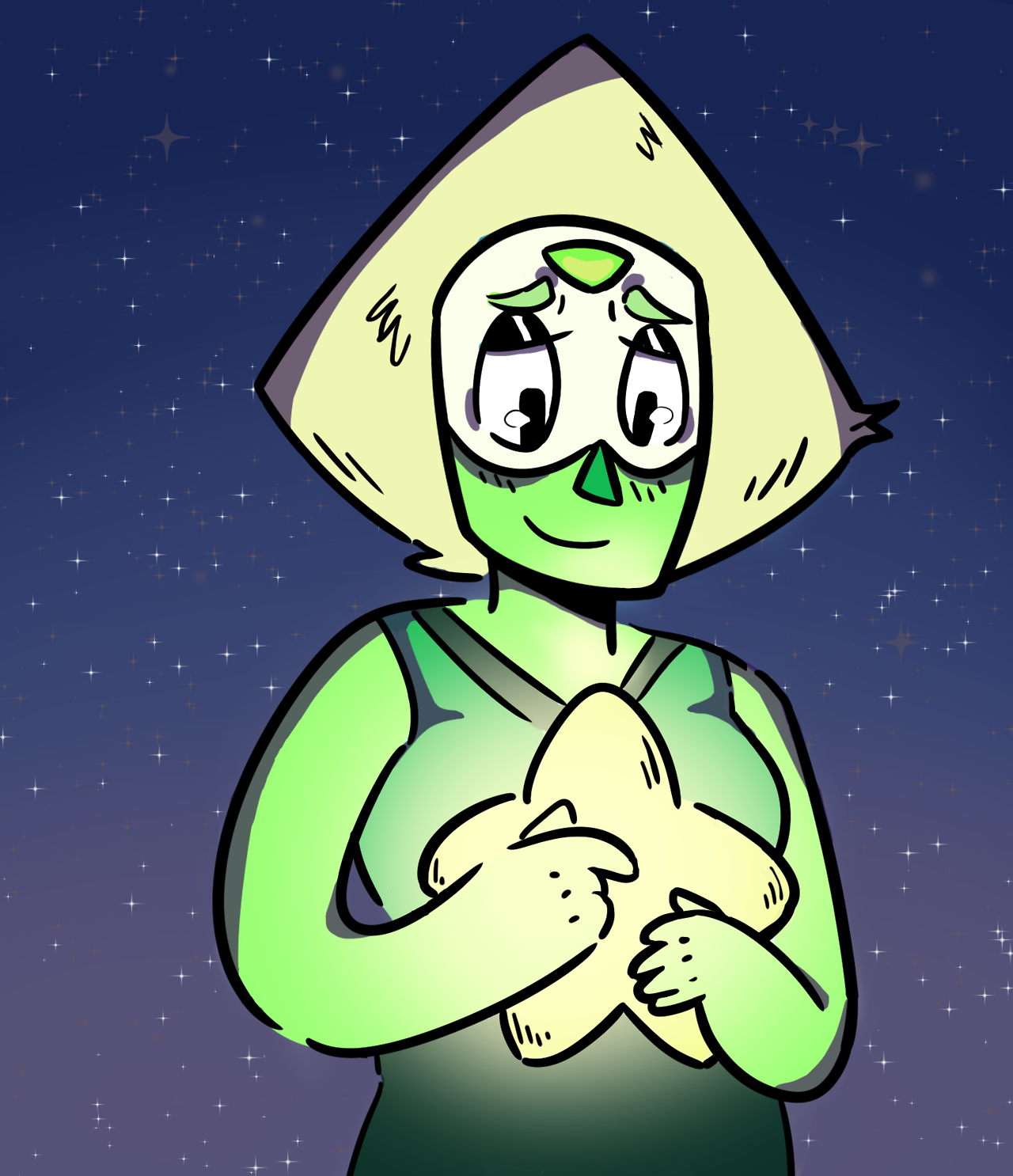 You Are a Crystal Gem I love Peridot so much oh my god