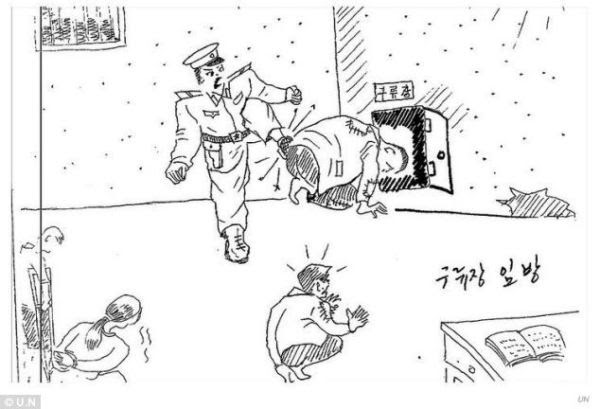 """<span title=""""图为惩罚犯人的一些方法。"""">Image is of several ways prisoners are punished.</span>"""