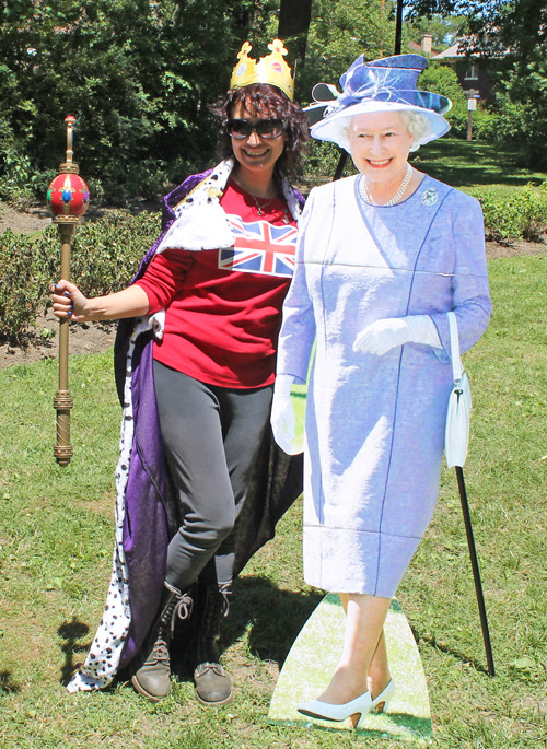 Posing with Queen Elizabeth