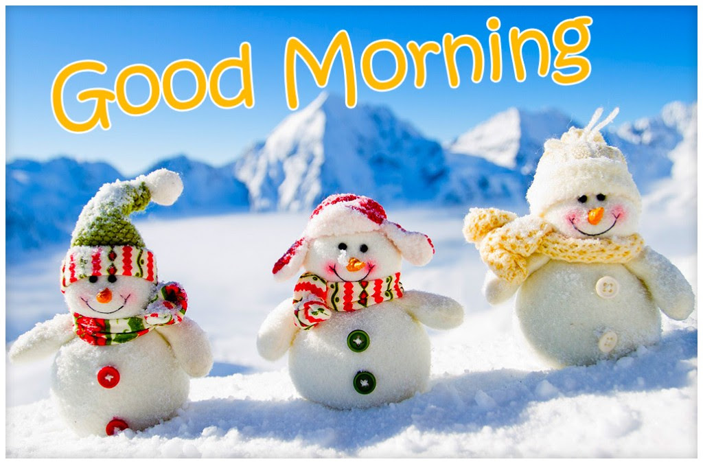 good morning Xmas snowman