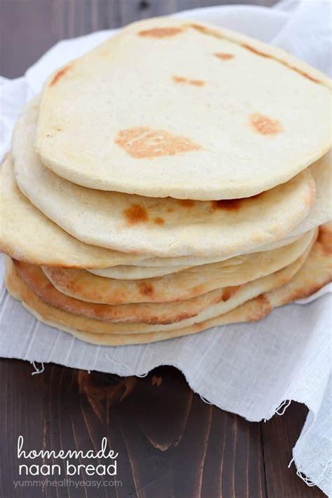 homemade naan bread recipe yummy healthy easy