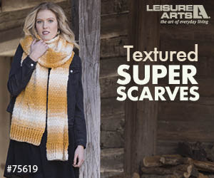 Crochet Textured Super Scarves