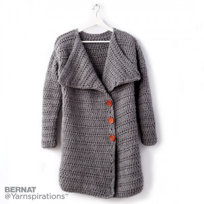 Big Collar Crochet Coat