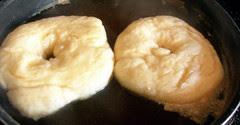 Bagels boiling