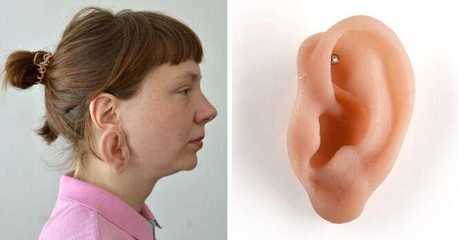 Estes brincos se parecem orelhas humanas, mas se você ficou com nervoso, espere só até ver o anel em forma de dedo