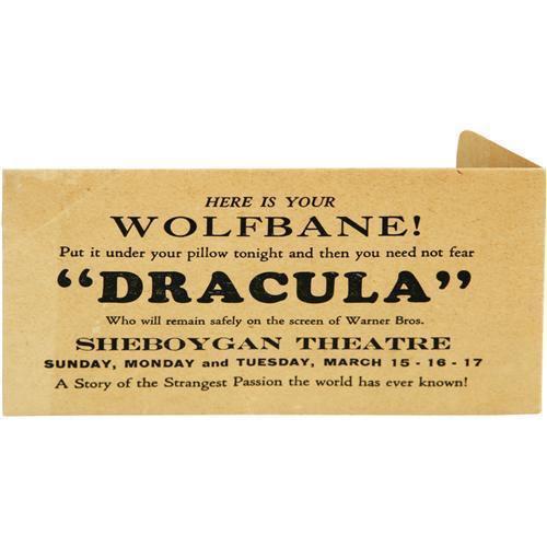 ronaldcmerchant:  DRACULA (1931) publicity give away