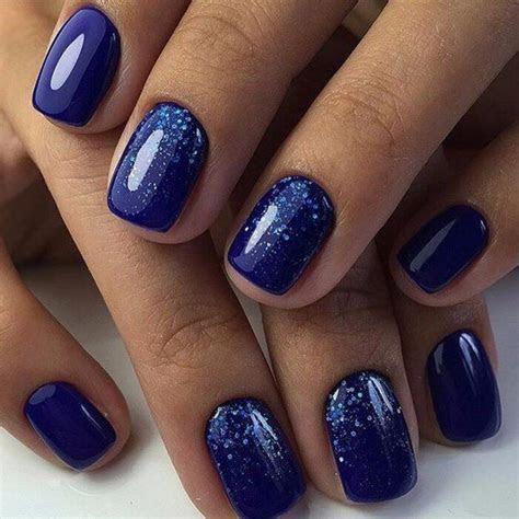 Nail Art #2665   Dark nail designs   Blue shellac nails