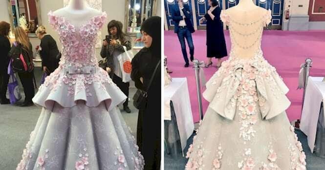 Mesmo que quisesse, você jamais poderia usar este vestido de noiva