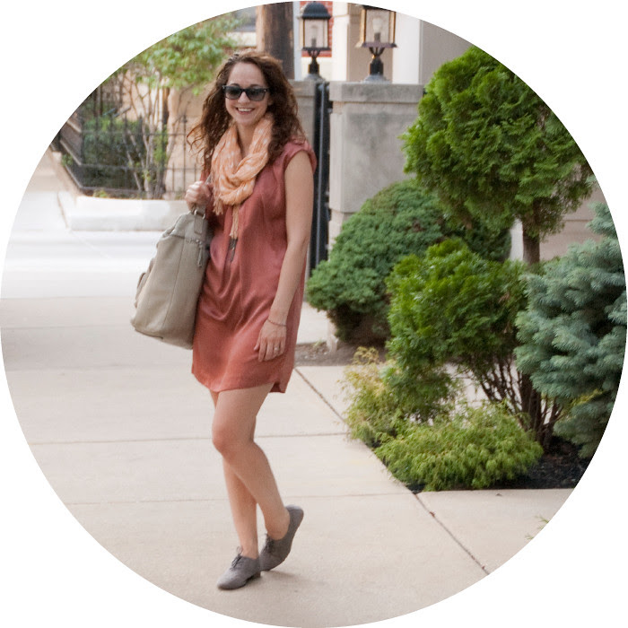 dash dot dotty, rust and peach, rusty peaches, summer scarf, polka dots, oxfords, ootd, what to wear, outfit ideas, oranges, summer