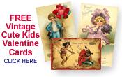 free vintage Valentine cute kids