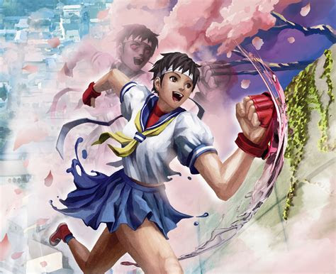 wallpaper sakura street fighter  tekken games