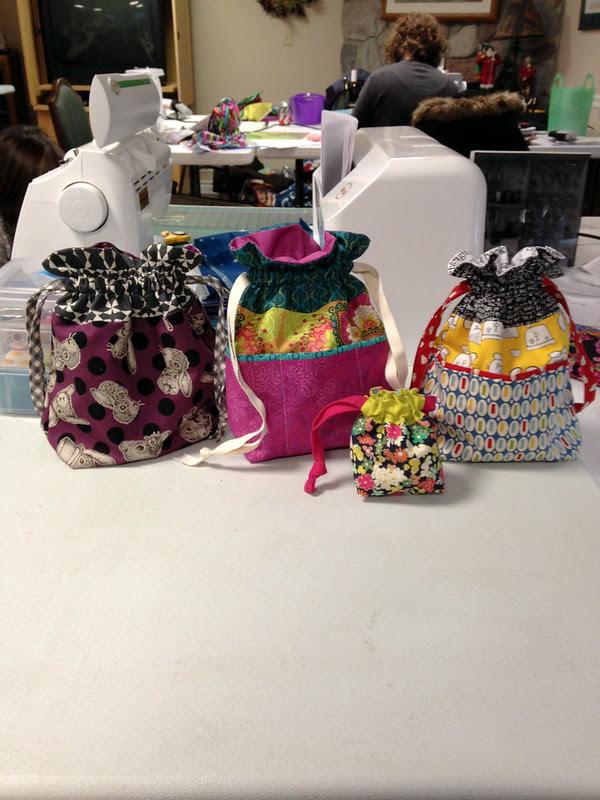 Camp Stitchalot - Drawstring Bags by Jeni Baker