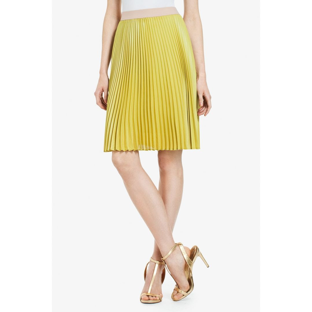BCBGMAXAZRIA Toni Pleated Skirt