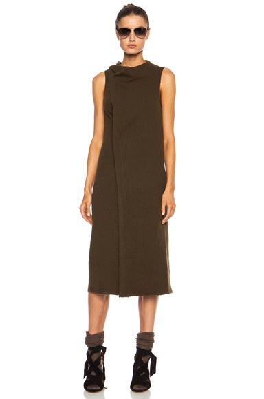 Isabel Marant|Kendal Cowens Virgin Wool-Blend Dress in Bronze [1]