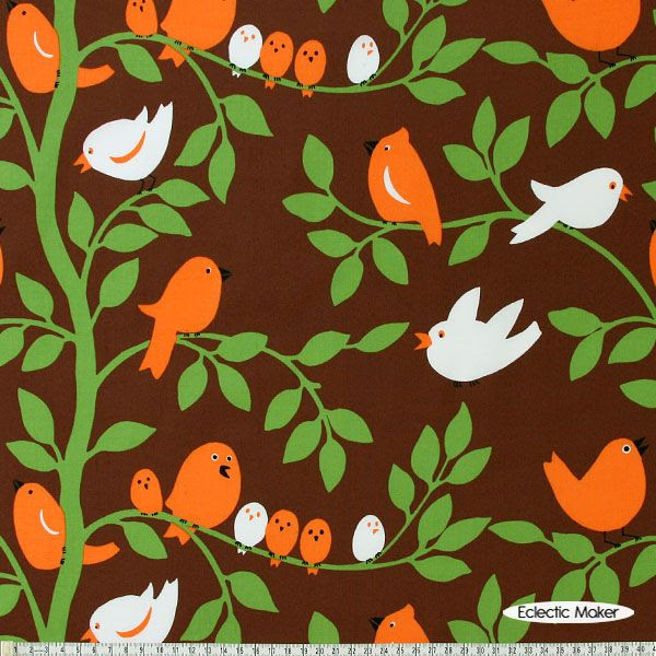 Michael Miller Fabric Tweetie Pie in Brown Michael Miller Fabric Tweetie Pie in Brown for patchwork quilting and dressmaking from Eclectic Maker [CX5510_Brown] : Patchwork, quilting and dressmaking fabric, patterns, habberdashery and notions from Eclectic Maker