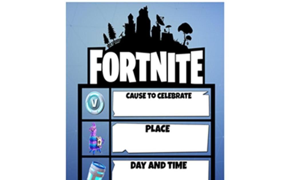 Fortnite Birthday Party Invitations Free Fortnite Aimbot Real