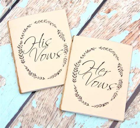 Handmade Wedding Vow Books   Happy Go Lucky