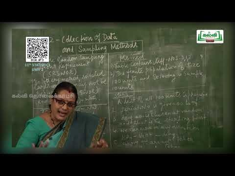 11th Statistics Collection of Data and Sampling Methods Chapter 2 Kalvi TV