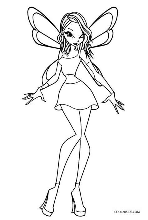 printable winx coloring pages  kids coolbkids