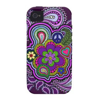 Psychedelic Purple Paisley Phone Case Vibe iPhone 4 Cases