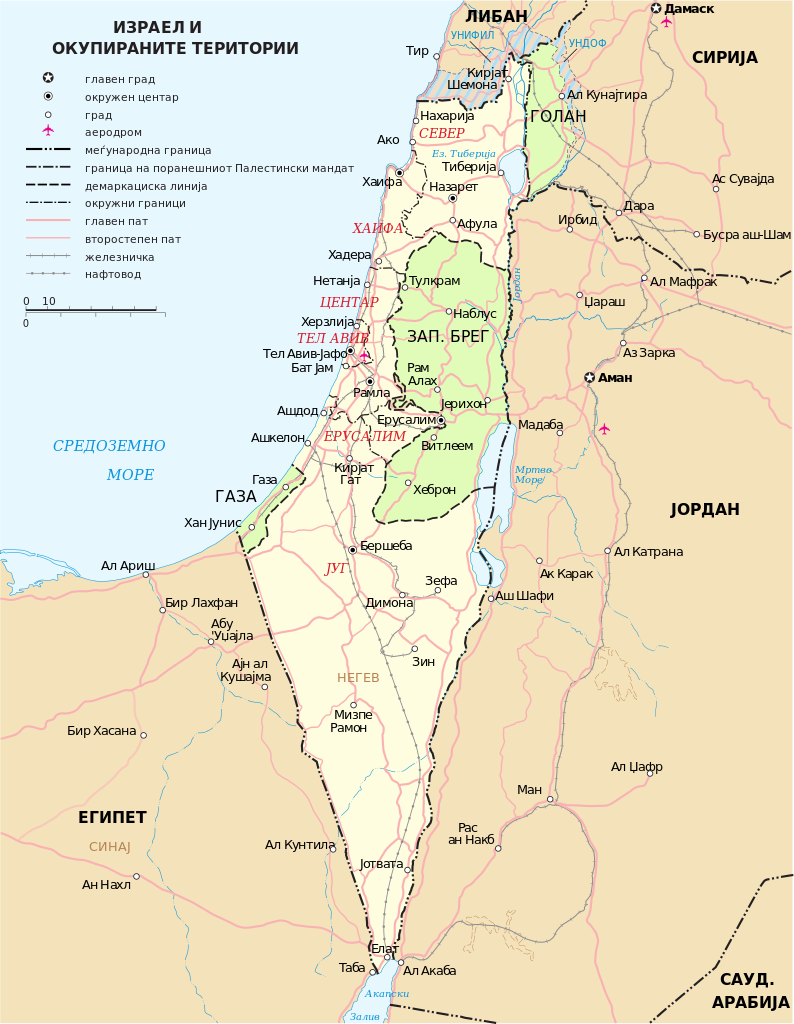 Filemap Of Israel Neighbours And Occupied Territories Mk