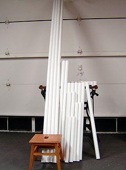 Cano de PVC com os cortes completos