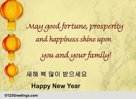 ... Cards, Free Korean New Year eCards, Greeting Cards   123 Greetings