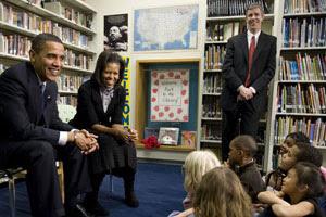 President Barack Obama and Mrs. Michelle Obama...