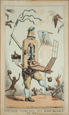 anthropomorphic printing press