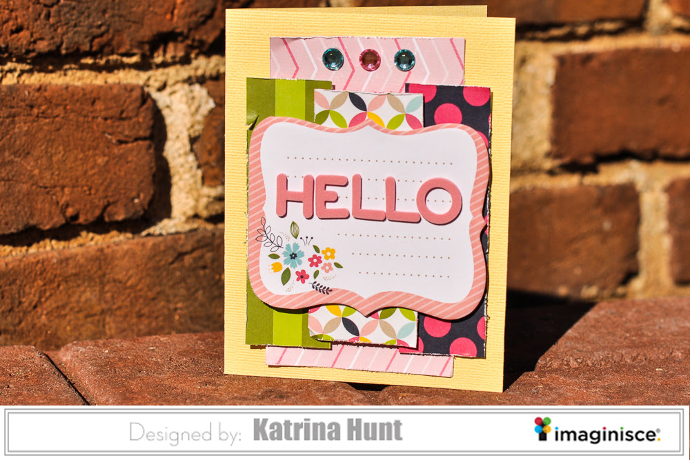 A Quick Hello Card-Imaginisce