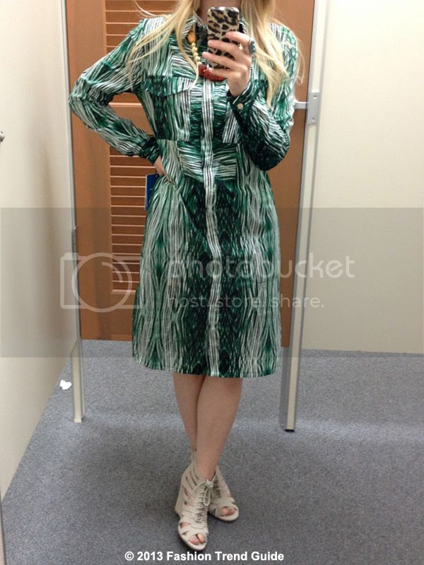 Derek Lam Kohl's DesigNation green striped shirtdress