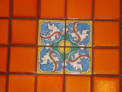 Detail of Portuguese Braganza Floor Medallion Inserts