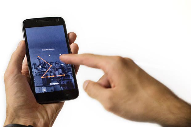 Tela de bloqueio com padrão gráfico para Android