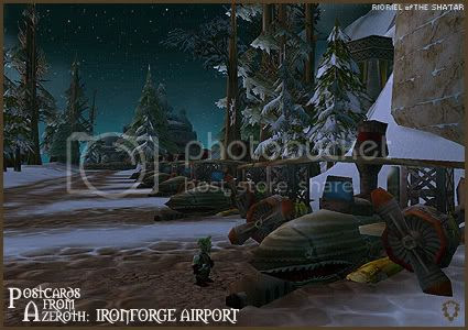 Postcards of Azeroth: Ironforge Airport, by Rioriel Ail'thera