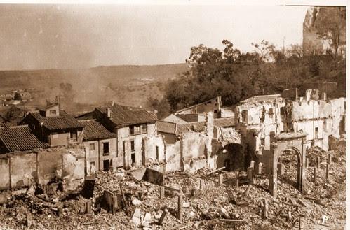 Zocodover destruído en la Guerra Civil